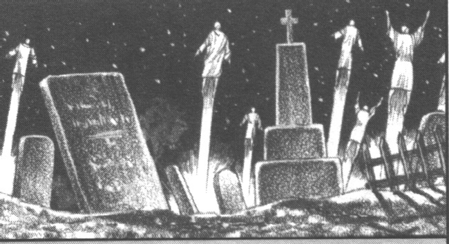"""The """"dead in Christ Jesus"""" will rise first at the Rapture depicting immortal bodies rising from their graves"""