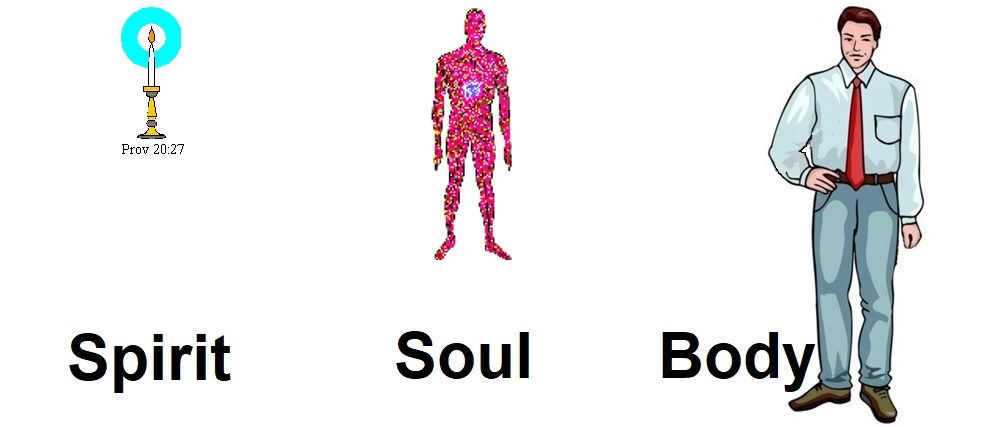 Our three-part being of Spirit, Soul and Body - 1 Thes 5:23
