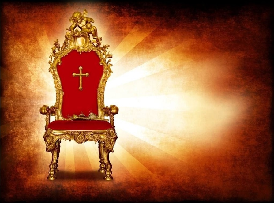 The Christian's Seat next to Christ's Throne with their name written on it